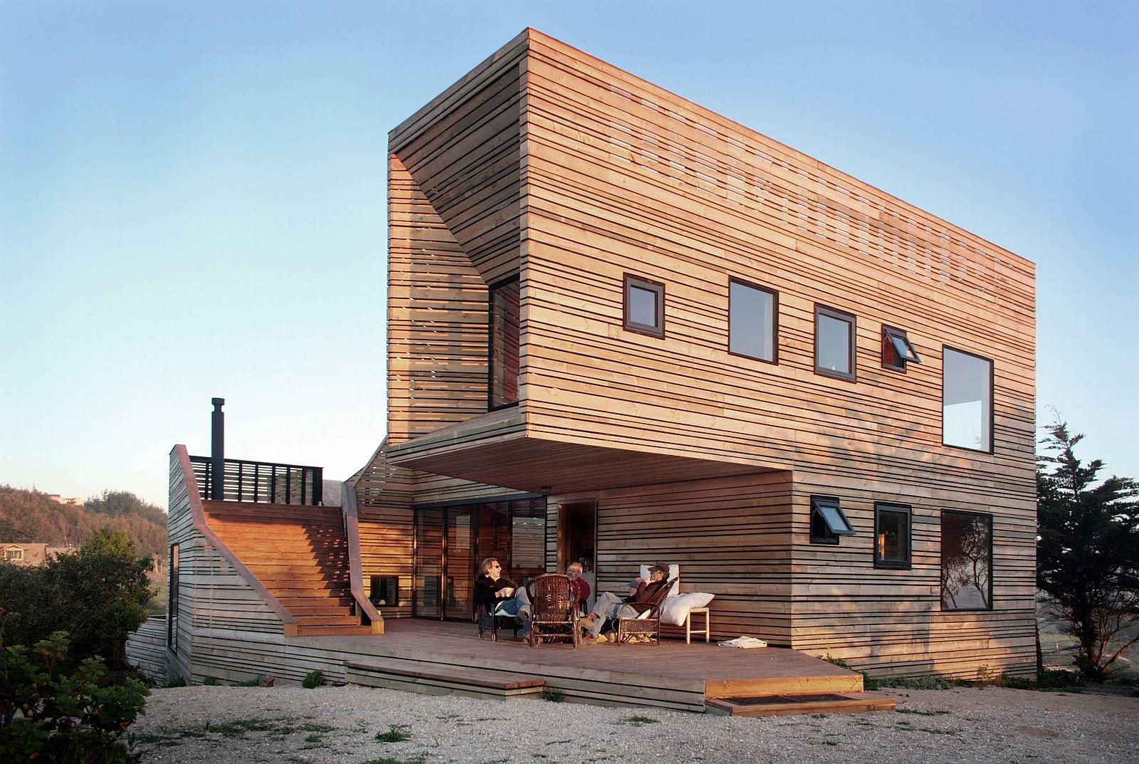 Современные деревянные дома фото