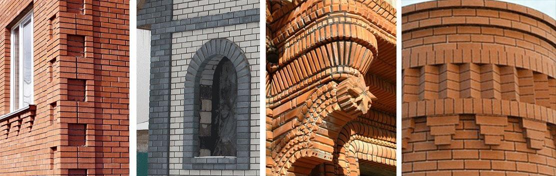 Виды рельефной кладки архитектурных элементов