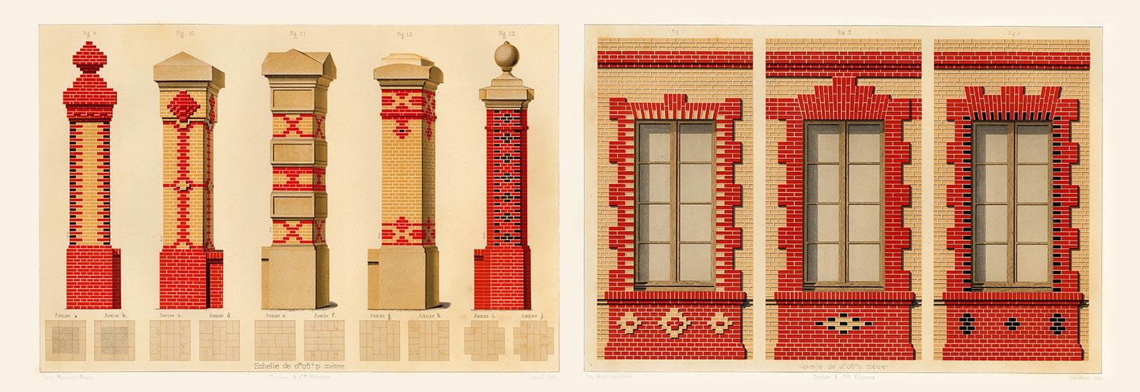 Узоры из кирпича для фасадов дома