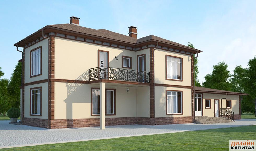 Интерьер фасада дома