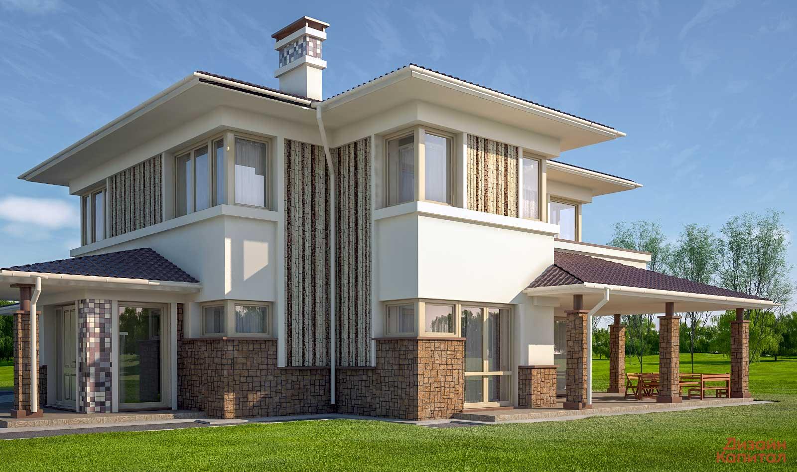 Дизайн фасады коттеджи