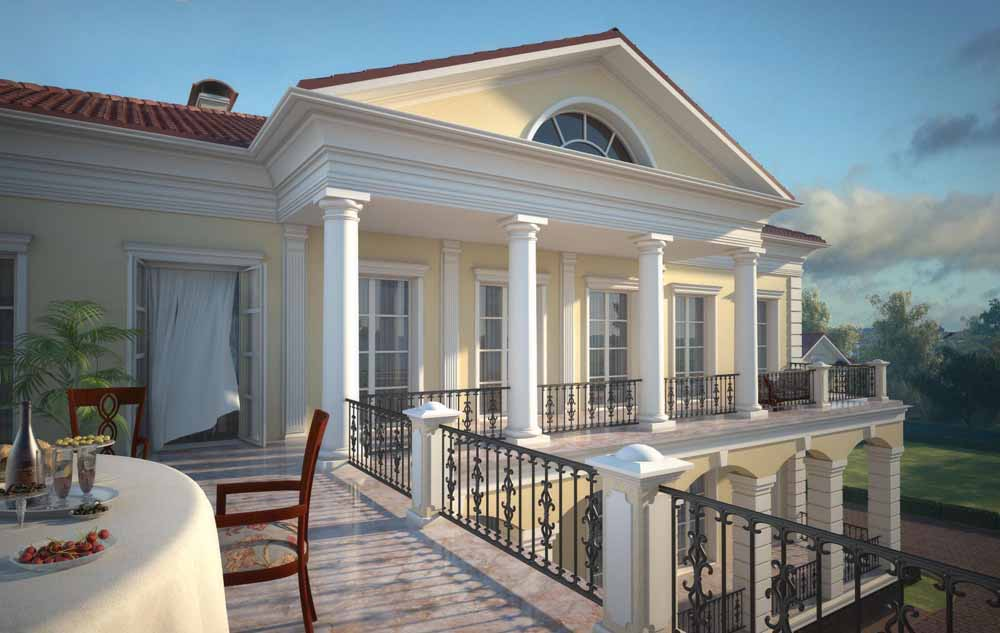 Проект визуализации дома в стиле