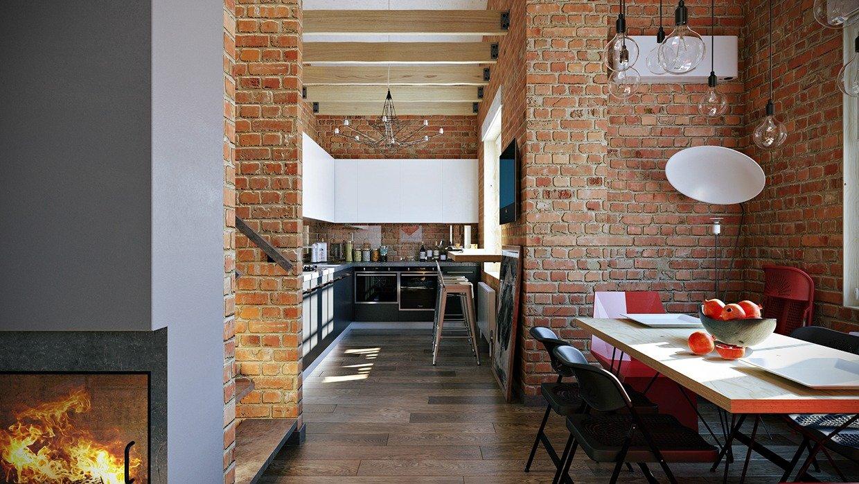 отличаются окрасу, кухни в стиле лофт с кирпичом фото помощью круглогубцев конец